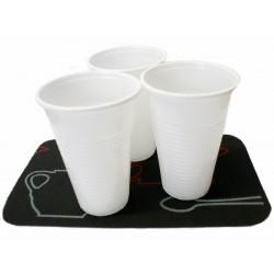 Kubki jednorazowe plastikowe 200 ml białe