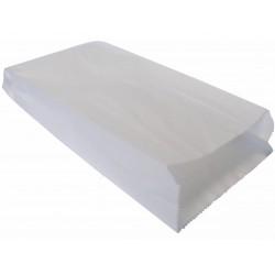 Torby papierowe fałdowane 34x15x6 białe 1000 szt.