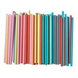 Słomki do napojów kolorowe łamane 1000 szt.