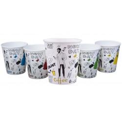 Kubki papierowe jednorazowe do kawy 0,25 l/100 szt.