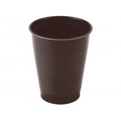 Kubki jednorazowe plastikowe 200 ml brązowe 100 szt.