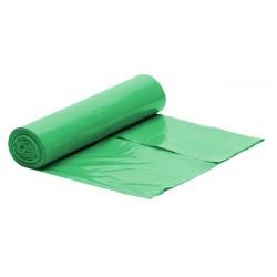 Worki na śmieci LDPE 60l 50szt zielone