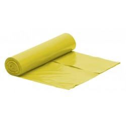 Worki na śmieci LDPE 60l 50szt żółte