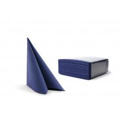 Serwetki ciemnoniebieskie fizelinowe 40x40 cm a50