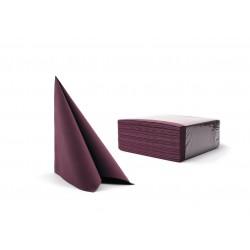 Serwetki śliwkowe fizelinowe 40x40 cm a50