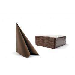 Serwetki brązowe fizelinowe 40x40 cm a50