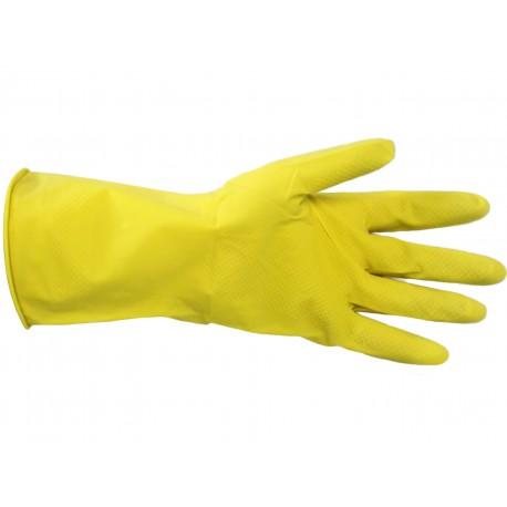 Rękawice gumowe gospodarcze rozm. S,M,L żółte