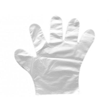 Rękawiczki foliowe HDPE 100 szt. rozm. S, M, L