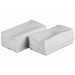 Serwetki papierowe białe 33x33 cm a500 składane 1/8