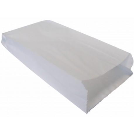 Torby papierowe fałdowane 35x15x6 białe 1000 szt.
