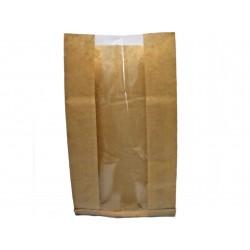 Torby papierowe fałdowane z oknem 20x6x40 białe 1000 szt.