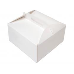 Karton na tort ciasto 18x18x10 25 szt. z uchwytem