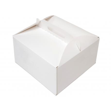 Karton na tort ciasto 22x22x11 25 szt. z uchwytem