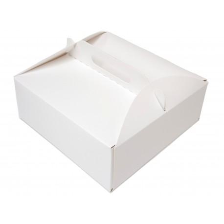 Karton na tort ciasto 26x26x11 25 szt. z uchwytem