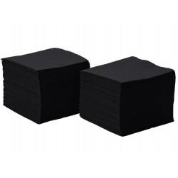 Serwetki papierowe czarne 24x24 cm a200 składane 1/4