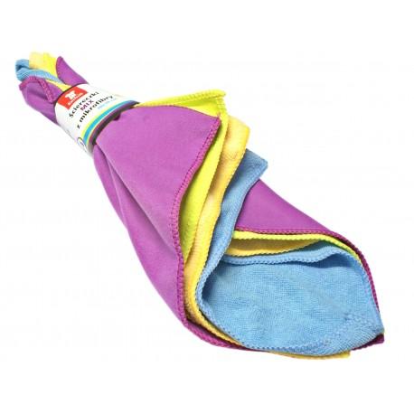Ścierki 4 rodzaje mikrofibry 4 szt. frotte kolorowe