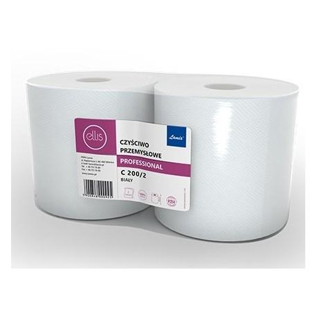 Czyściwo papierowe 2 rolki białe