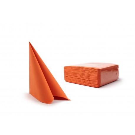 Serwetki pomarańczowy fizelinowe 40x40 cm a50