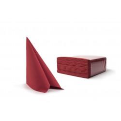 Serwetki burgundowe fizelinowe 40x40 cm a50