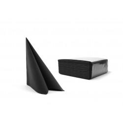 Serwetki czarne fizelinowe 40x40 cm a50
