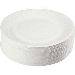 Talerze jednorazowe papierowe 15cm 100szt eko