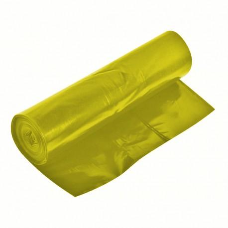 Worki na śmieci LDPE 240l 20 szt. żółte