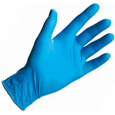 Rękawiczki nitrylowe bezpudrowe rozm. M 100 szt. niebieskie