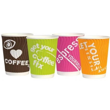 Kubki papierowe 400 ml (16oz) kolorowe mix 24 sztuki