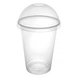 Kubki i wieczka do shake'ów jednorazowe plastikowe 400 ml przezroczyste