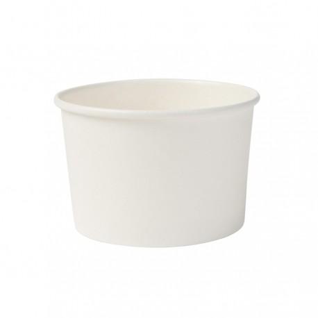 Papierowe kubeczki do lodów białe 130 ml 50 sztuk