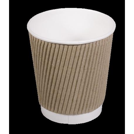 Kubki papierowe karbowane 0,25 l/25 szt. jednorazowe do kawy