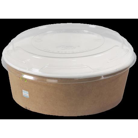 Miski/Pojemniki papierowe z pokrywkami 1100 ml 50 sztuk
