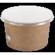 Miski/Pojemniki papierowe z pokrywkami do zup 508 ml 50 sztuk