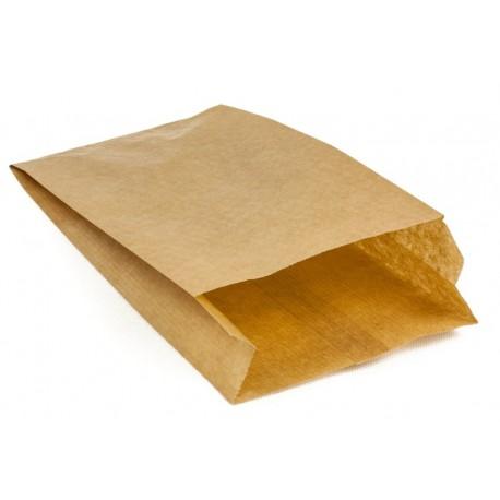 Torby papierowe fałdowane kraft 12x5x25 brązowe 1000 szt.