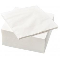 Serwetki białe 250 szt 33x33 cm składane 1/4